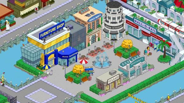 Mall O Rail Station   The simpsons game, Springfield ...