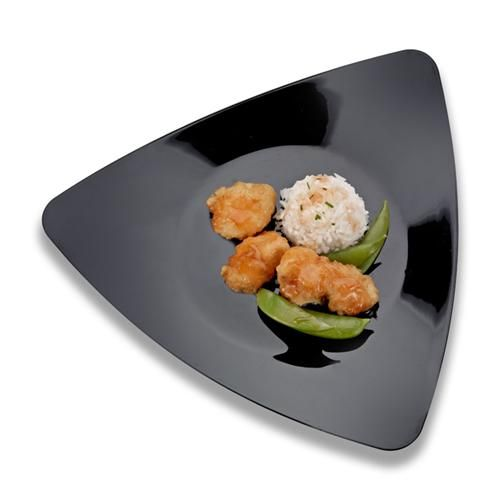 11\  Triangle Black Plastic Dinner Plates by smartyhadaparty.com.  sc 1 st  Pinterest & 11\