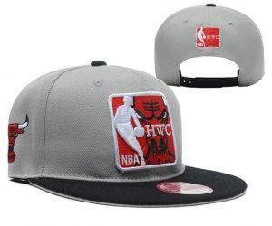 Casquette NBA Chicago Bulls Snapbacks Gris Noir : Casquette Pas Cher