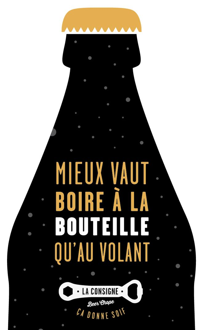 La Consigne Beer Chope Words Poster Text Quotes
