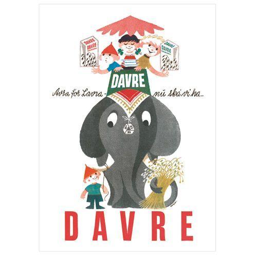 Fdb Davregryn Elefant Plakat 150 Ars Jubilaeumsudgave Plakater Elefant Kunstnere