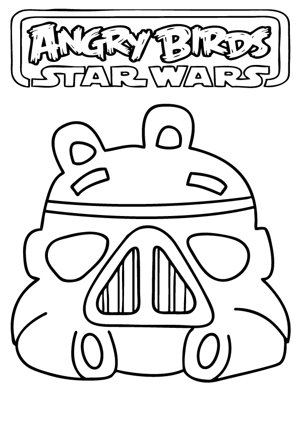 Angry Birds Star Wars Coloring Pages  Brody 5th Bday  Pinterest
