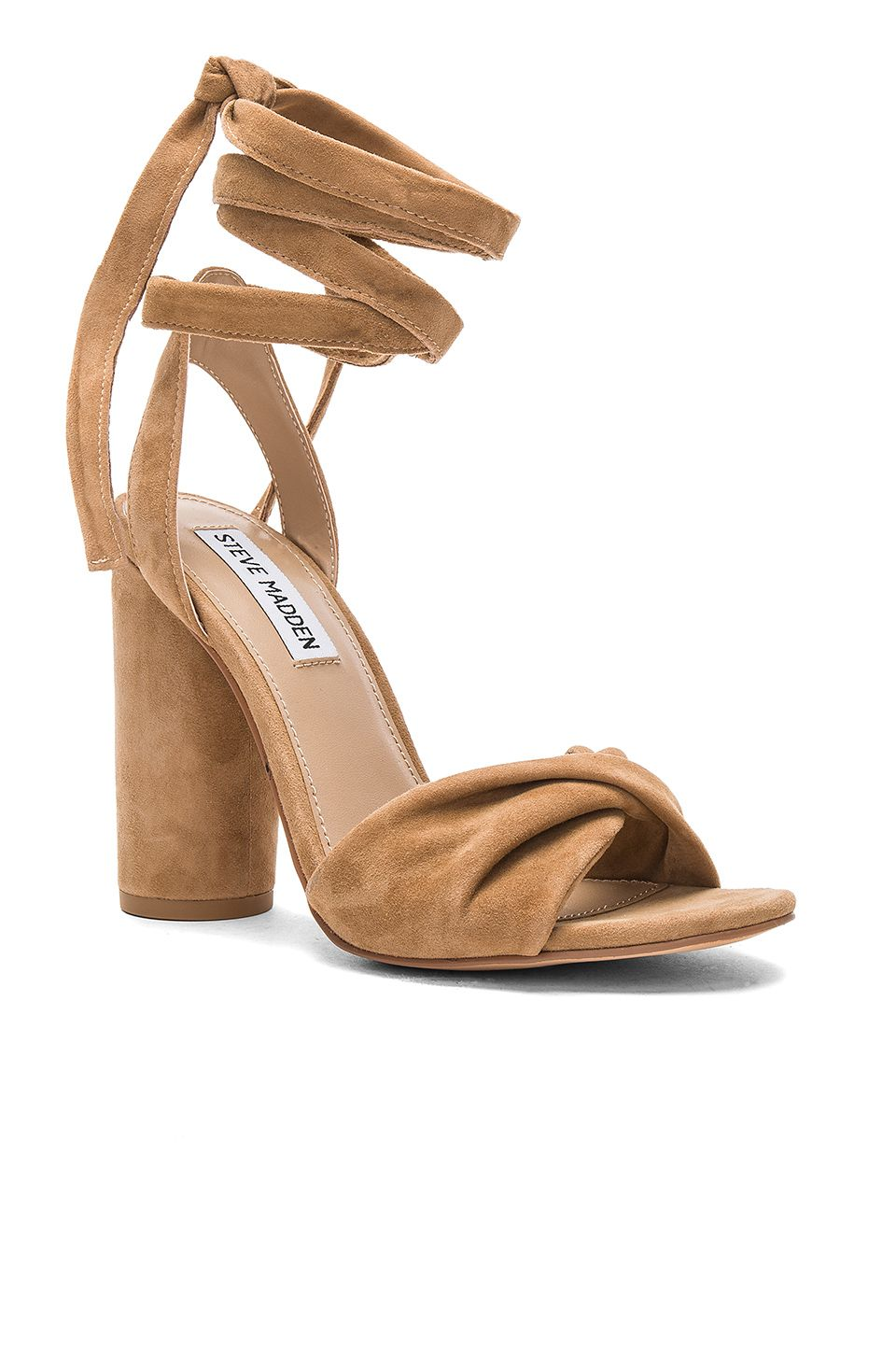 Steve Madden Clary Heel in Camel Suede | REVOLVE