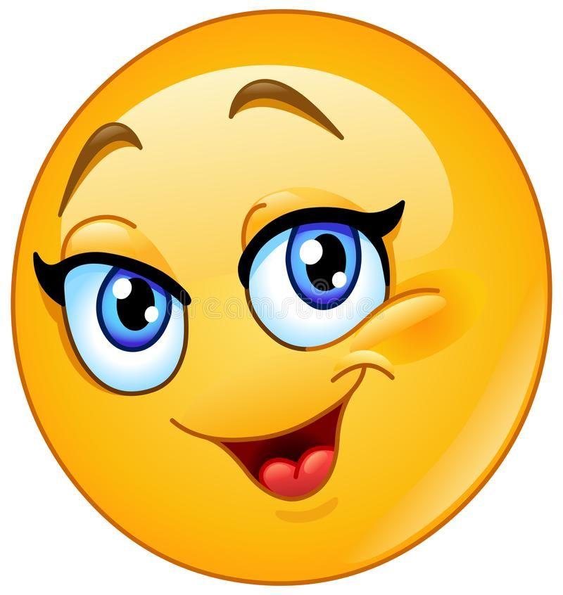 Download Emoticon femminile felice illustrazione vettoriale. Illustrazione di felice - 106946253   Emoticon, Smiley, Immagini divertenti