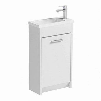 Clarity White Cloakroom Unit With Basin 450mm W C Basin Vanity