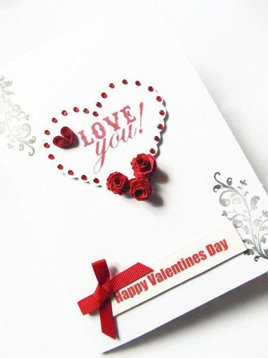 love valentines card quilled cards valentines cards