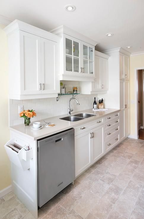 Various heights on custom cabinets create a unique ...