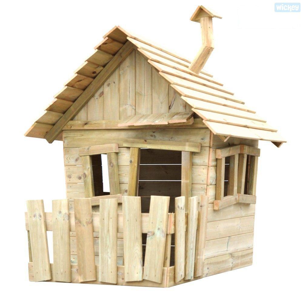 Maisonnette Pour Enfants La Villa De Wickey Cette Drole De Petite Maison De Wickey N Est Plus Un Kinder Spielhaus Garten Spielhaus Aus Holz Spielhaus Garten
