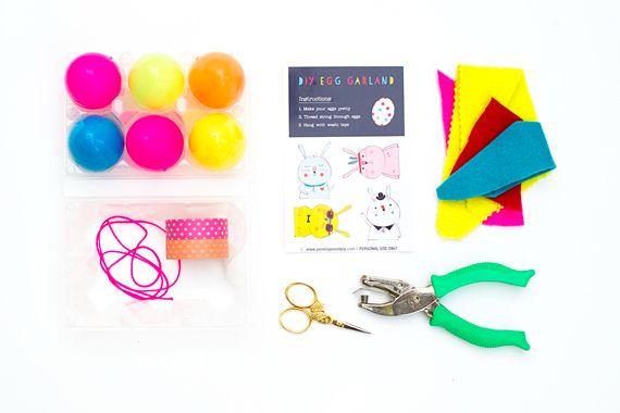 DIY Easter Garland in an Egg Carton