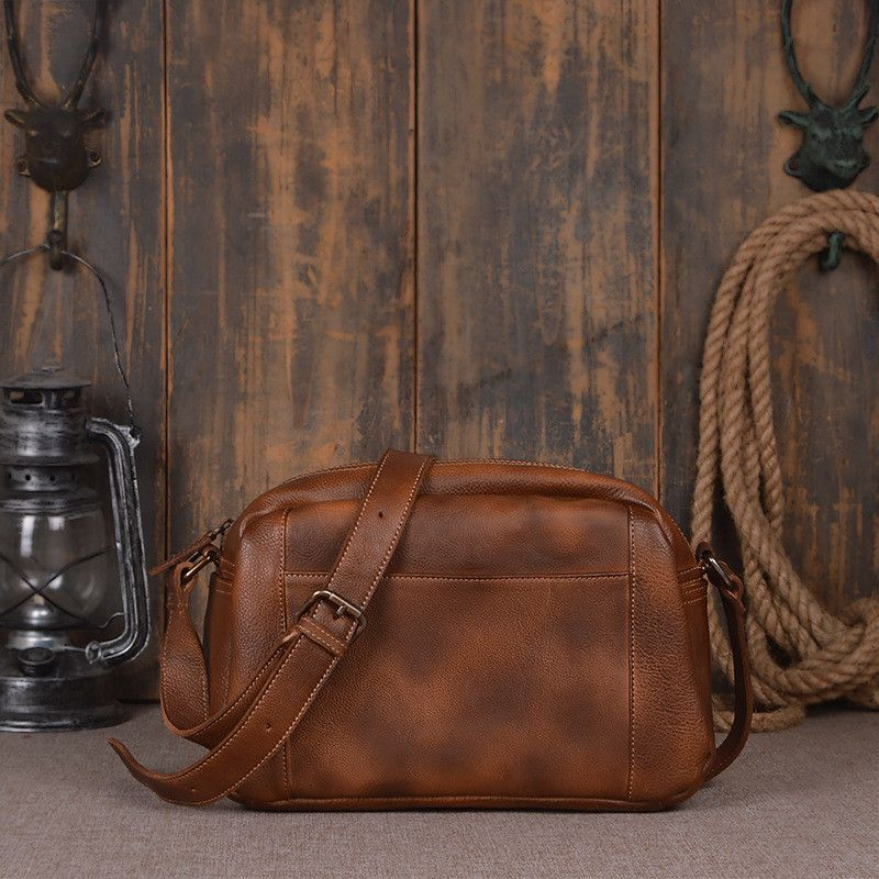 Handcrafted Genuine Leather Satchel Bag 9030