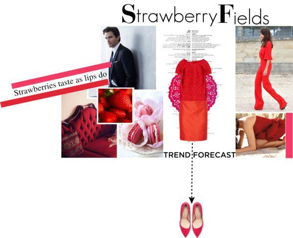 """Strawberry Fields"" by audreytfe ❤ liked on Polyvore"