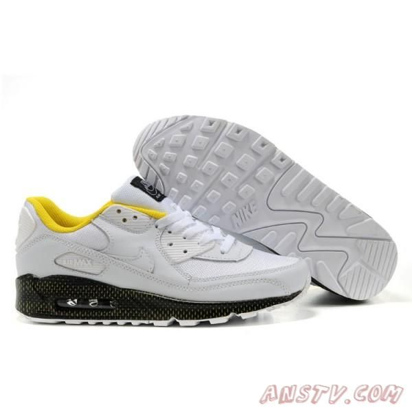 best loved 47100 219f6 Air Max Homme Chaussur Nike Air Max 90 BlancJaunes Hommes