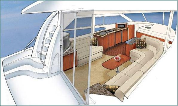 Yacht Interior Sketches   Google Search