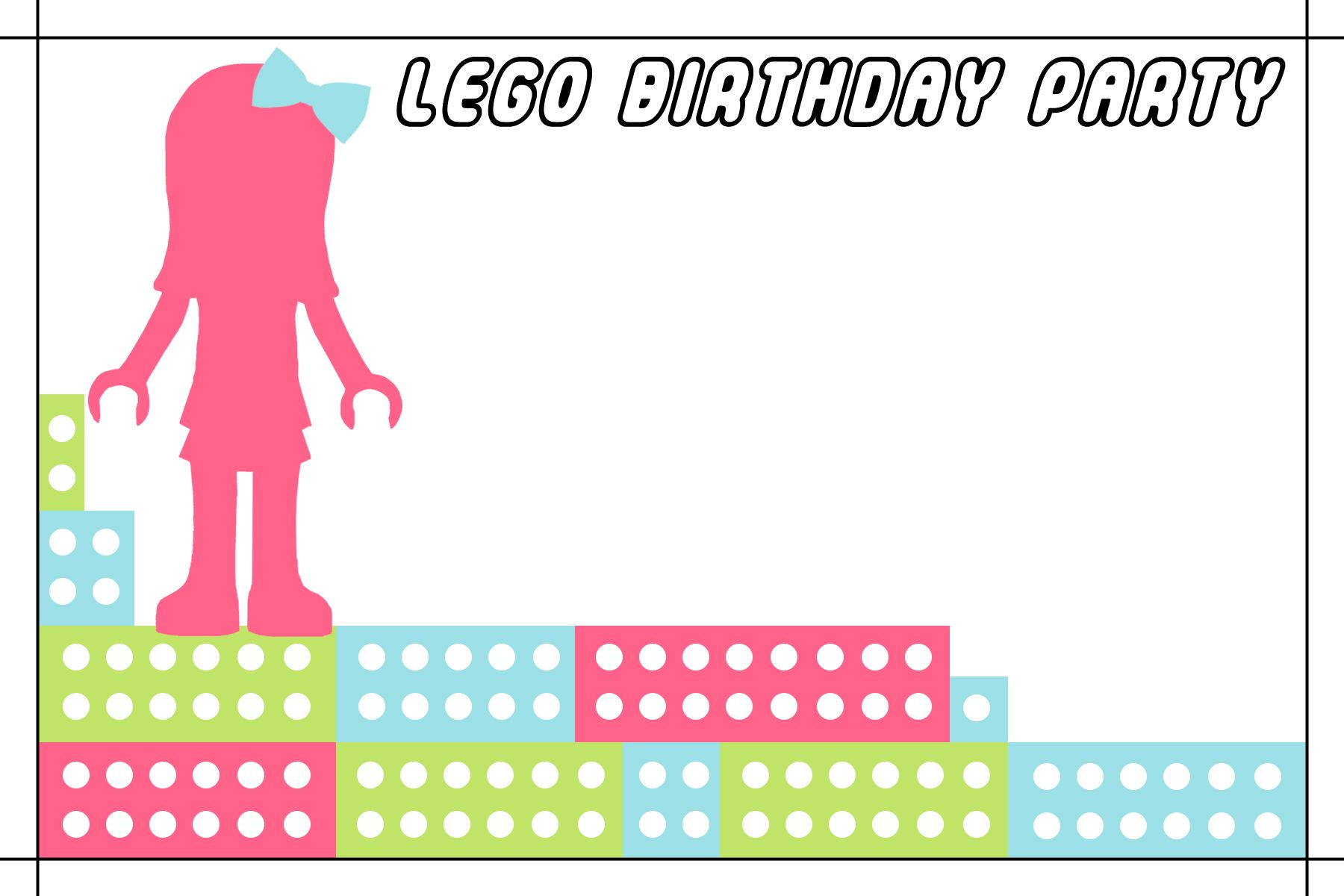 Free Lego Friends Birthday Party Invitations Printable ...