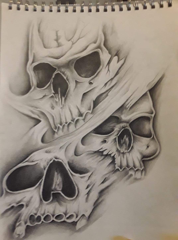 Pasefist Sight Skull Sleeve Tattoos Evil Skull Tattoo Skulls Drawing