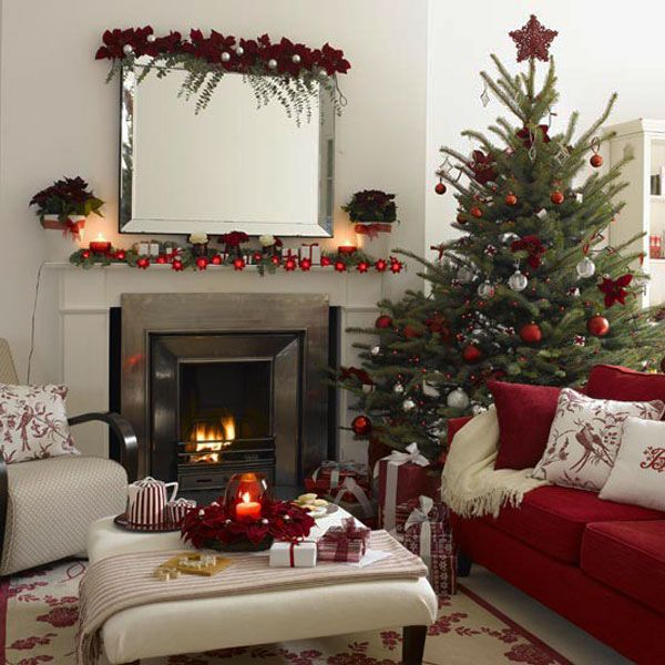 christmas fireplace decorating ideas 30 Christmas Decorating Ideas