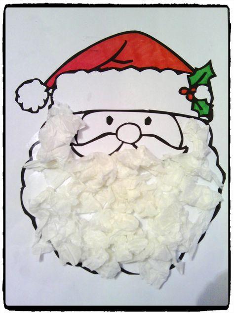Bricolage de Noël pour les petits : la barbe du Père-Noël en papier - #activitenoelenfant