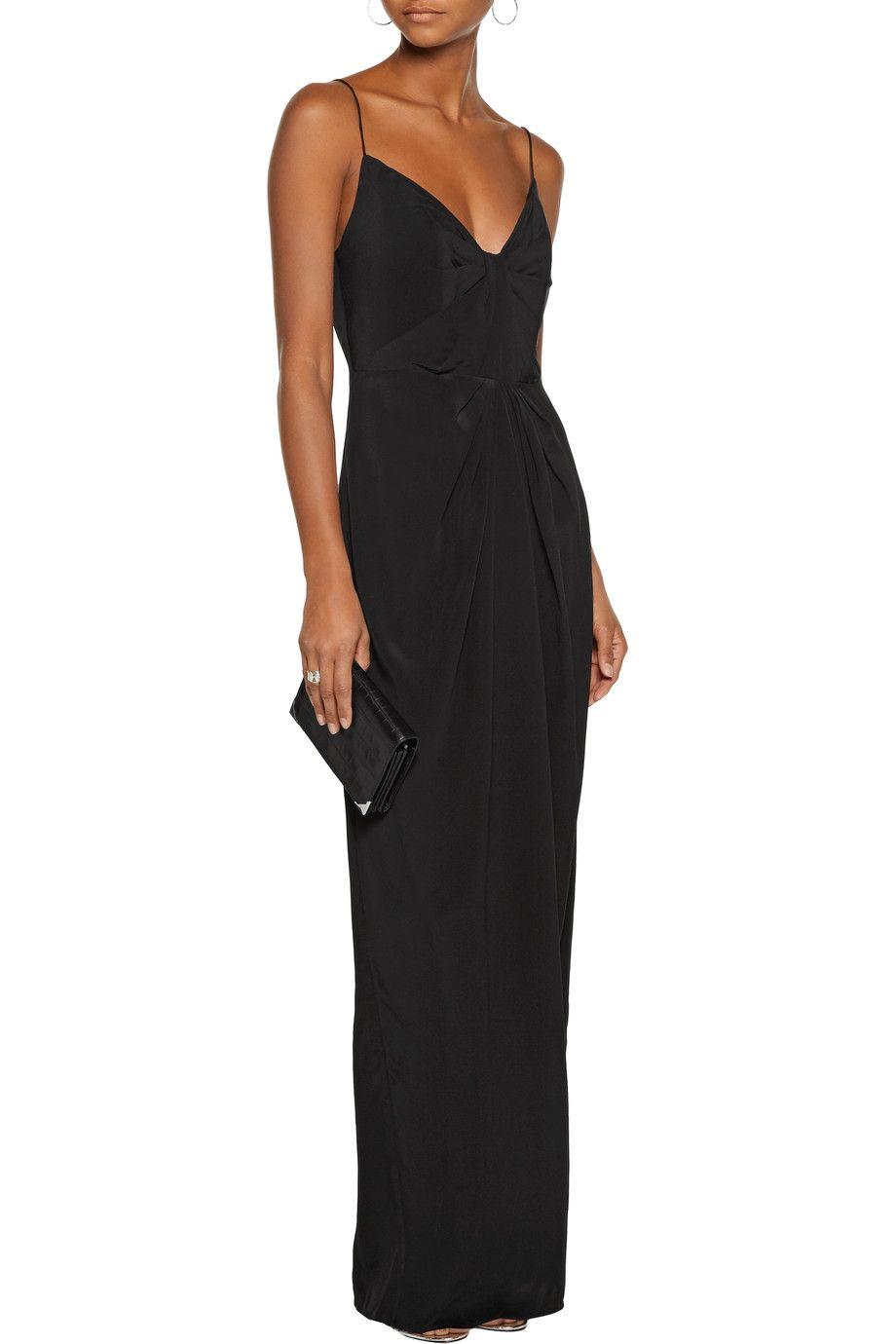 Silk Satin Maxi Dress