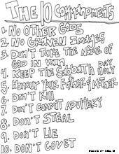 Ten Commandments Coloring Page | Bible lessons for kids ...