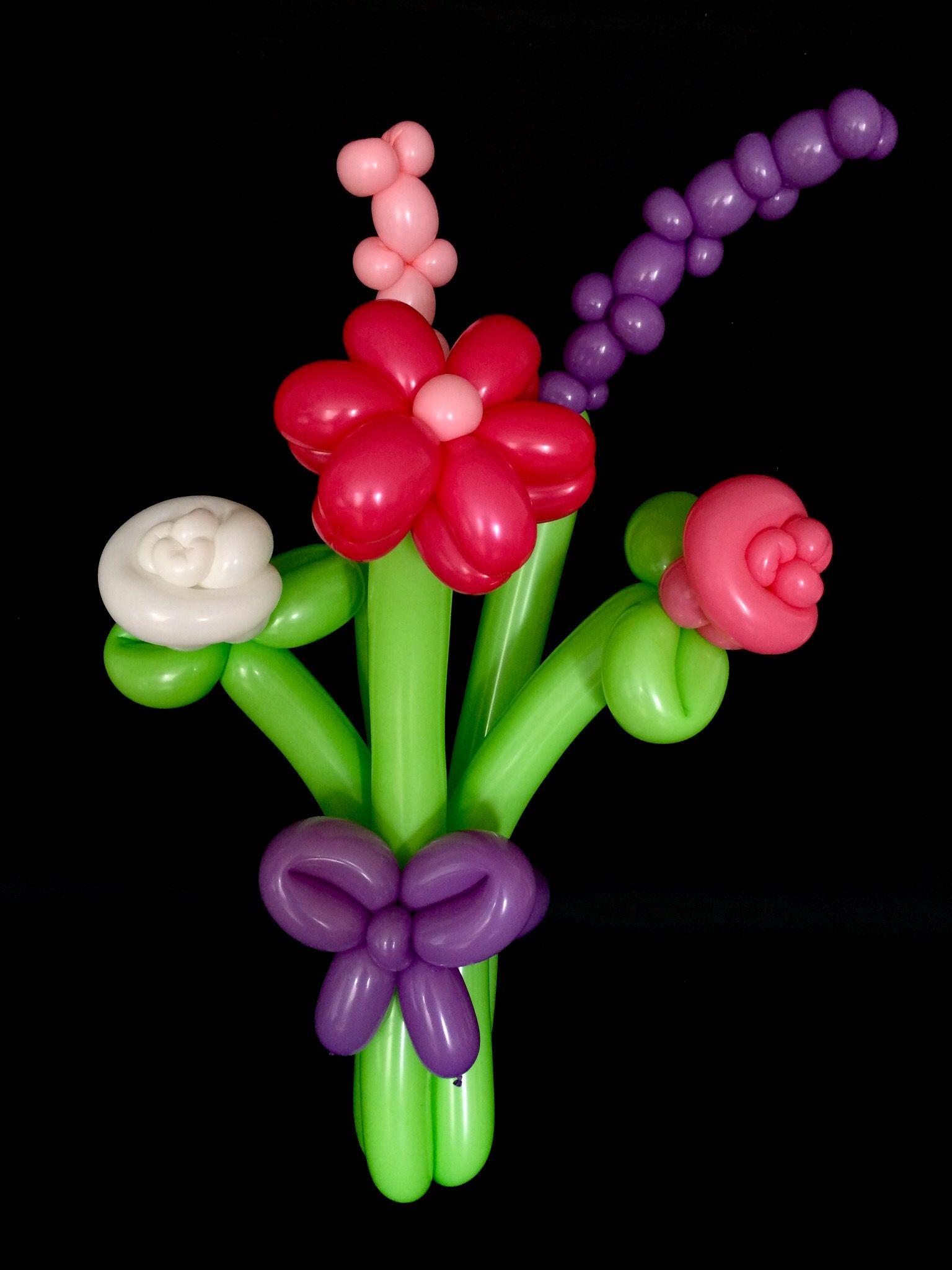 Flower Balloon Bouquet | 汽球 | Pinterest | Flower balloons, Troll ...
