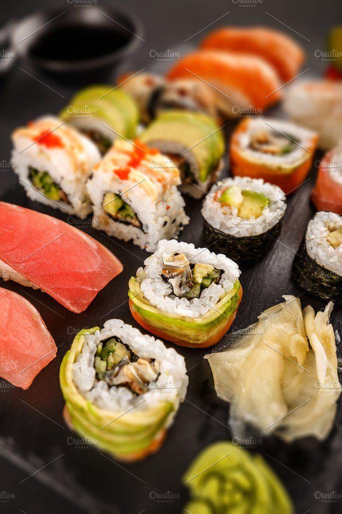 Traditional Japanese Cuisine Sashimi Sushi Food Japanese Food Photography