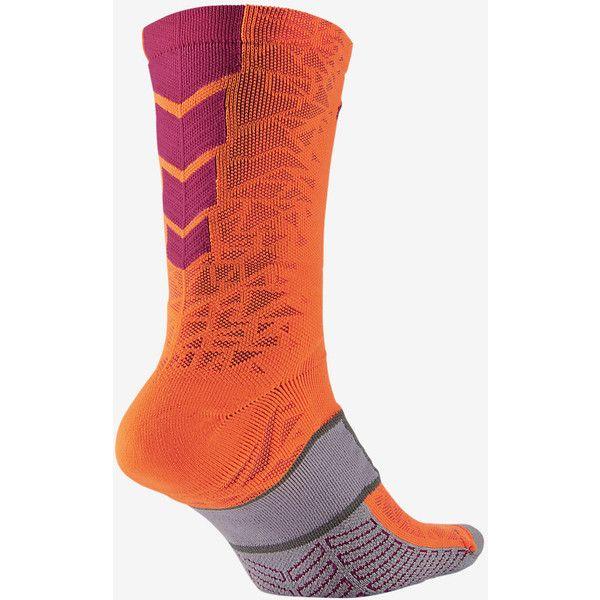 39fc75df7 Nike Match Fit Elite Hypervenom Crew Soccer Socks. Nike.com ❤ liked on  Polyvore featuring intimates, hosiery, socks, crew socks, nike and nike  socks