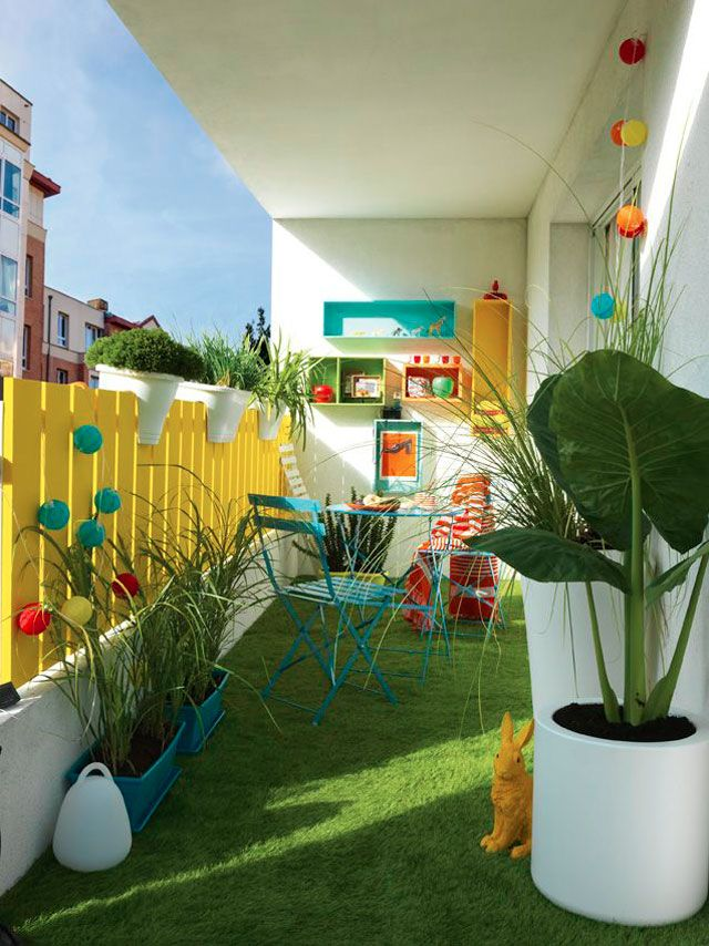 Balcon-décoration-long-couleur-3 Home Pinterest Terrazas, La