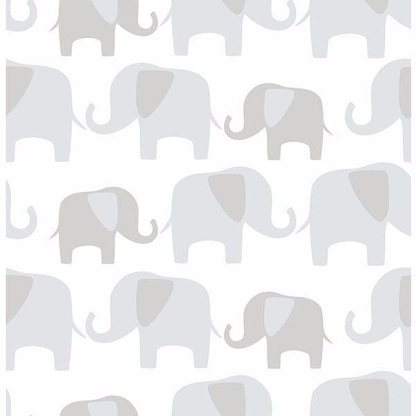Gray Elephant Parade Peel And Stick Wallpaper Elephant Wallpaper Elephant Parade Peel And Stick Wallpaper