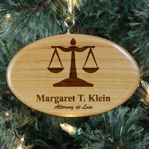 Engraved Lawyer Wooden Oval Ornament - Engraved Lawyer Wooden Oval Ornament Occupational Gift Ideas