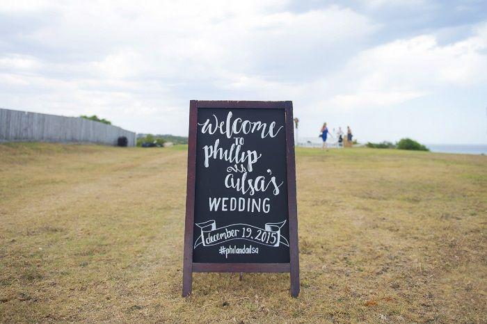 Chalkboard wedding sign | itakeyou.co.uk | Onthree photography