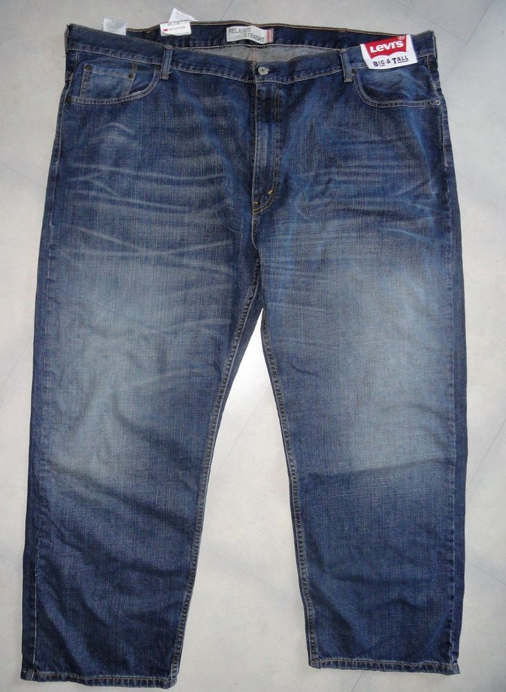 d74dce5a New Mens Denim Levis 559 Big Tall Relaxed Straight Leg Blue Jeans 52x30 # Levis #RelaxedStraight