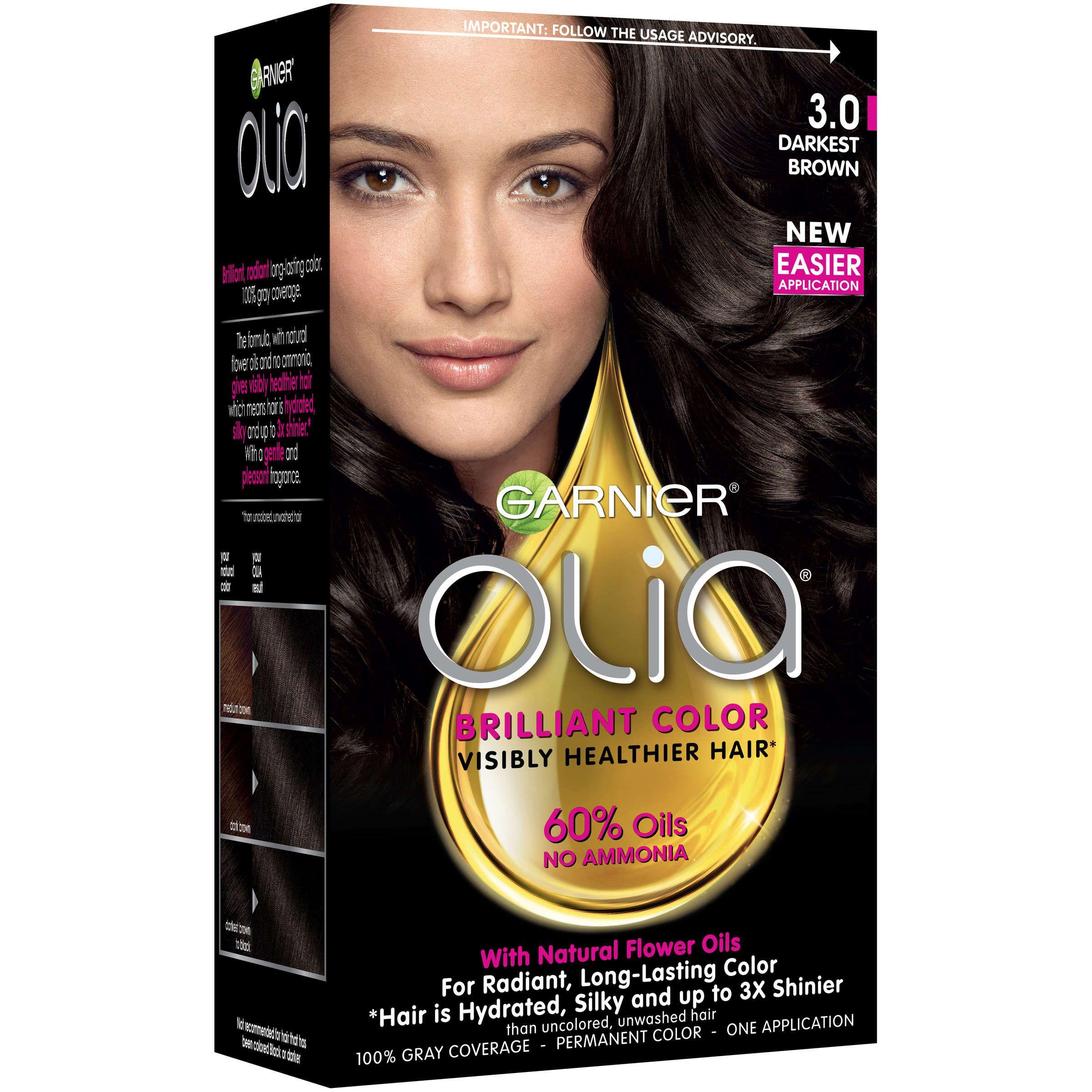 Garnier Olia Oil Powered Permanent Hair Color 6 0 Light Brown