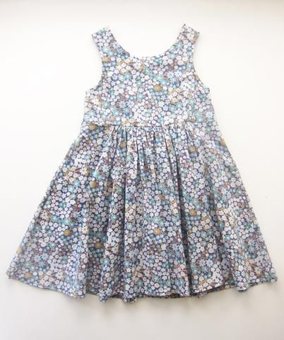 Eva Dress in Bluewash Kyoto bloom