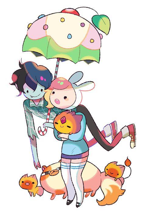 Fionna And Marshal Lee Chibi Cartoons Anime