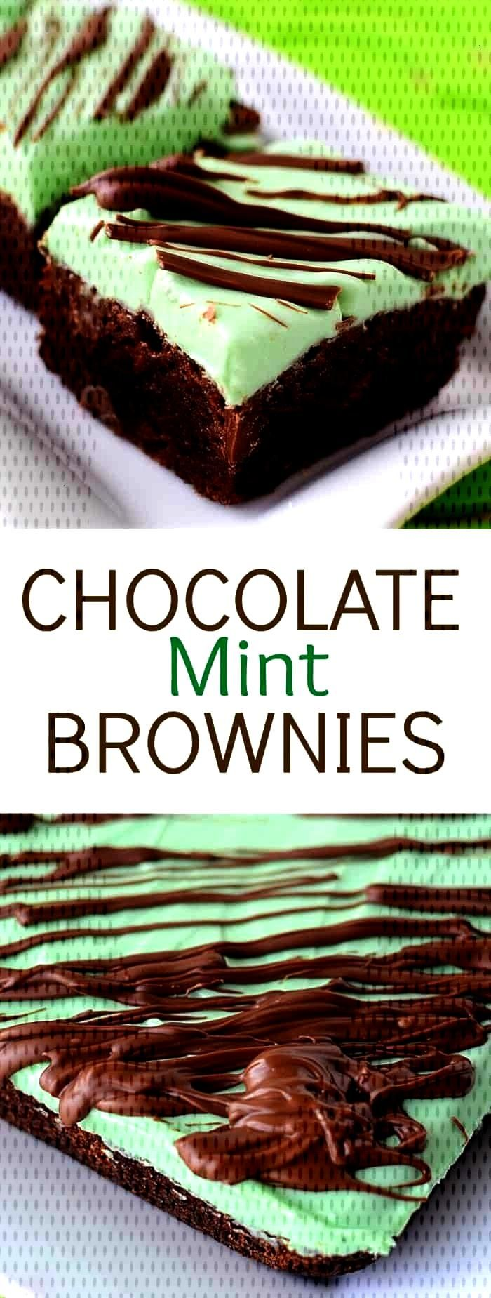 Chocolate Mint Brownies dessert recipe has it all – the classic look, taste, and the simplicity t
