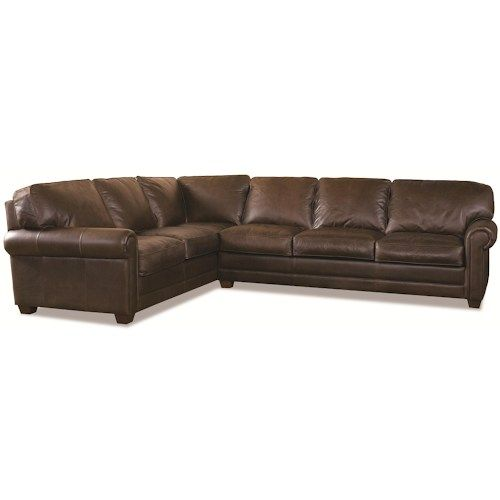 Elite Leather Sonoma Transitional 2 Piece Sectional Sofa