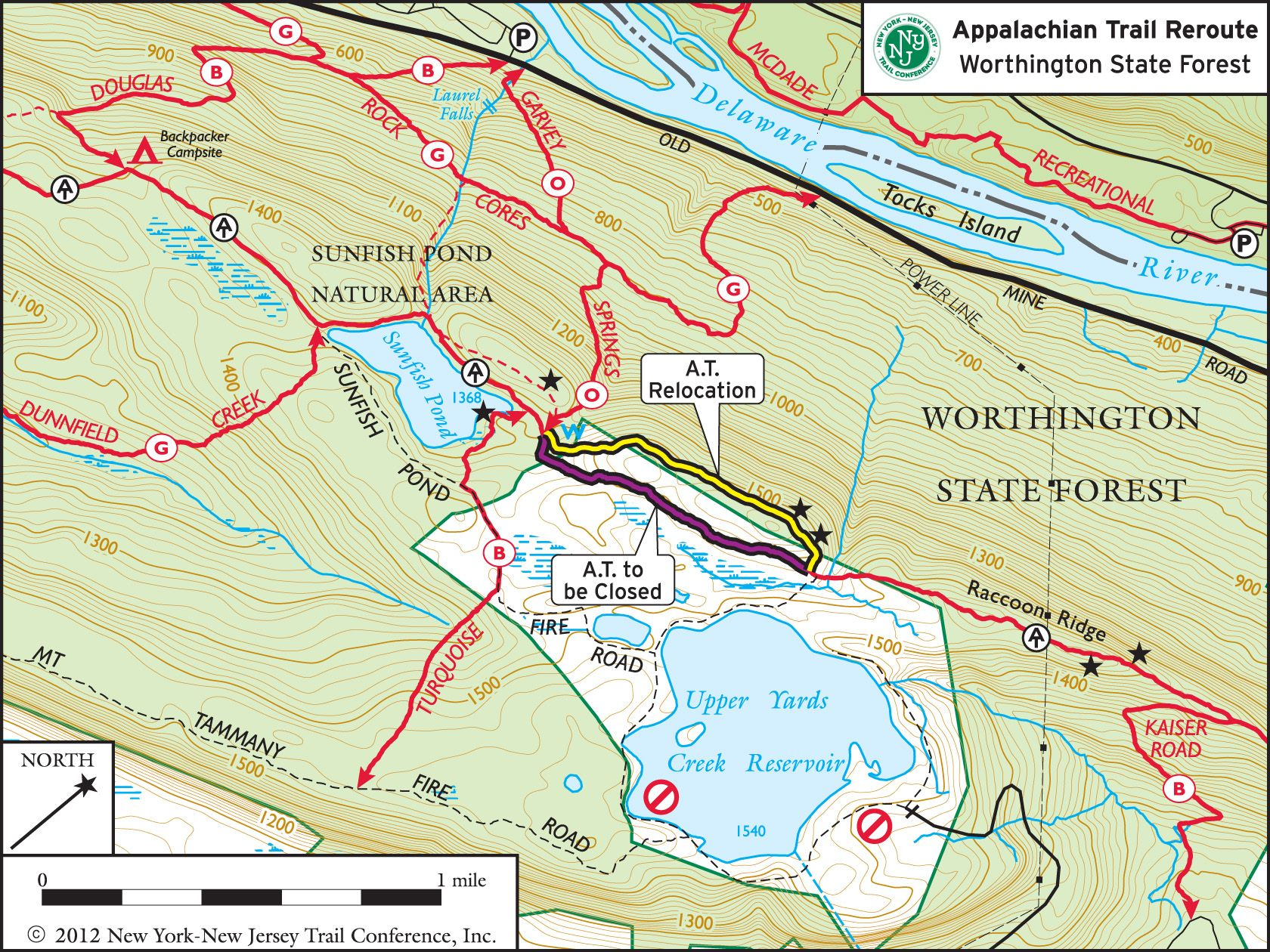 Delaware State Forest Map on