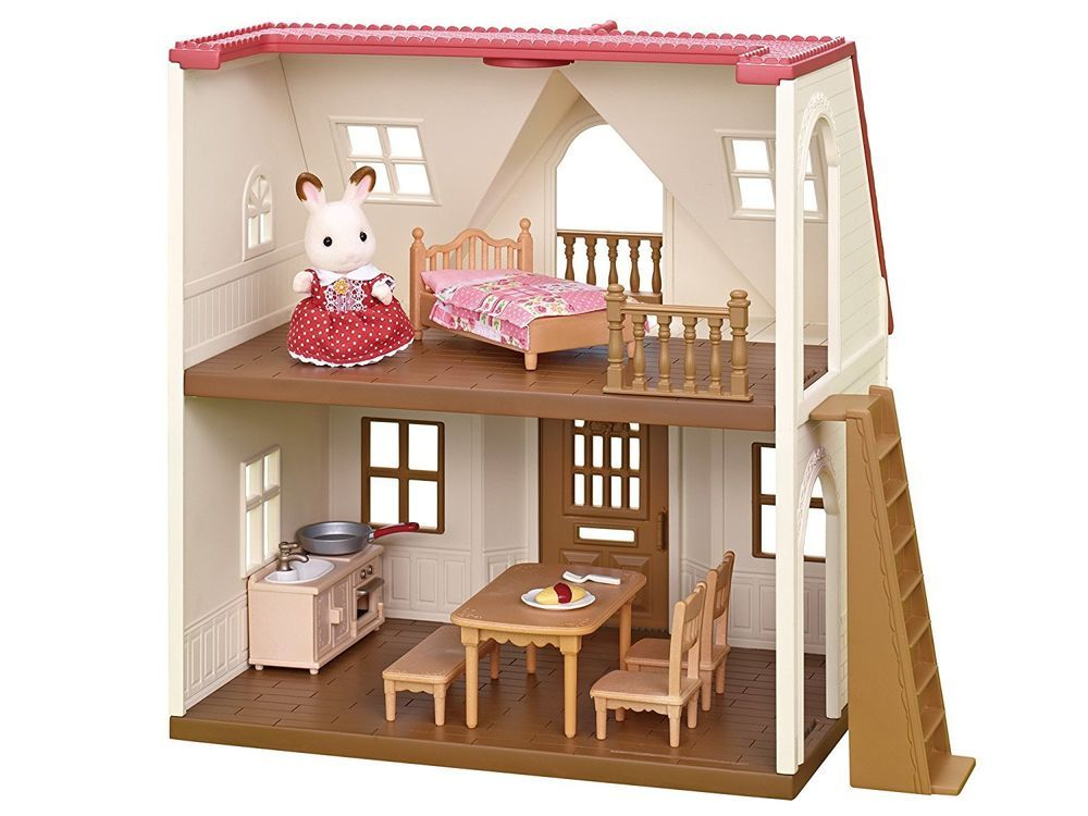 Now With Balcony And Brighter Walls Inside Sylvanian Families My First Sylvanian Home Set Epoch Japan Dh 06 New Model Sylvanianfamilies シルバニアファミリー 赤い屋根 家