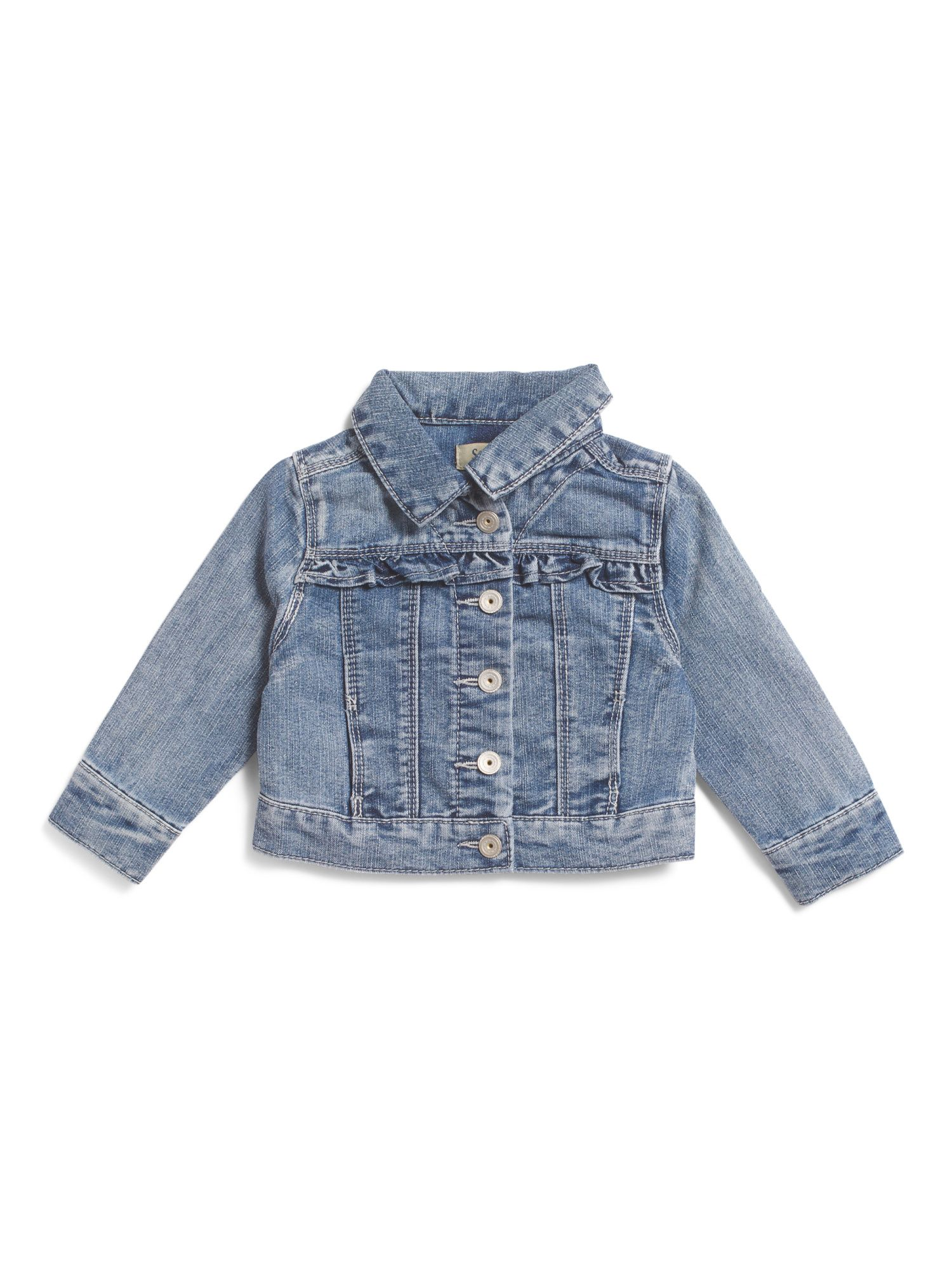 e84263f38 Toddler Girls Ruffle Trim Denim Jacket | non-existent chil'ren ...