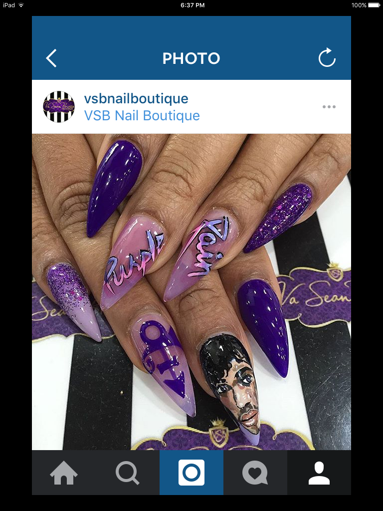 Pin by Desi. 😋🍭💕 on Prince inspired nails   Nails, Nail ...