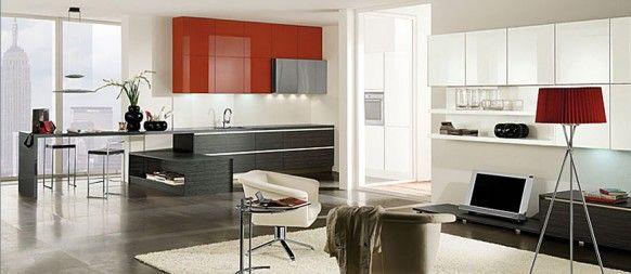 Cocinas rojas | Diseños de cocina modernas | Pinterest | Diseño ...