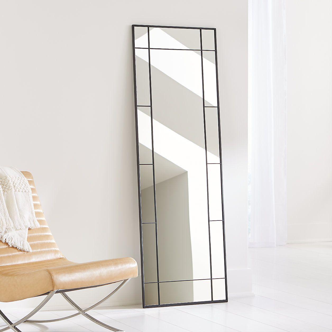 Payne Black Window Floor Mirror + Reviews Crate and