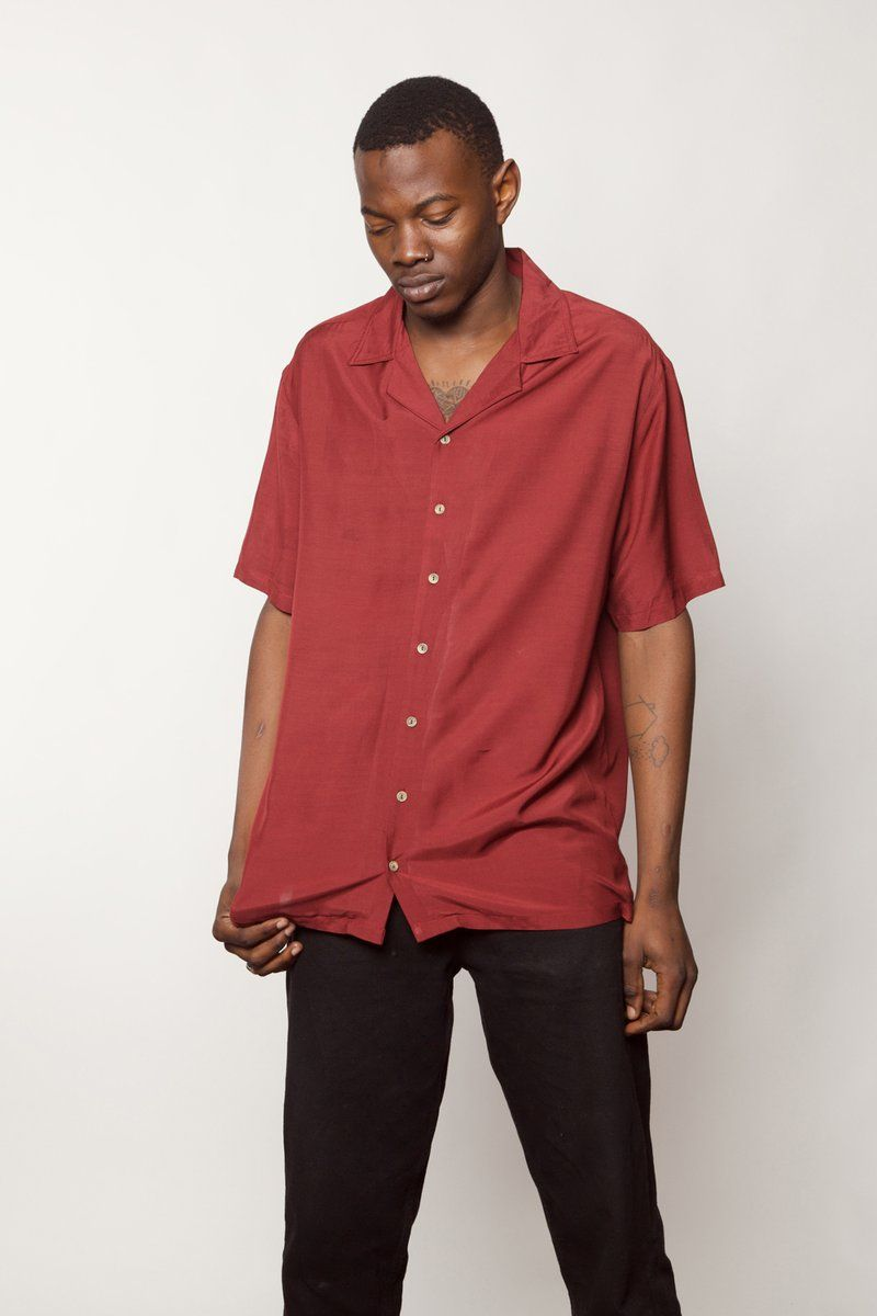 Guts red summer shirts clothing labels red shirt