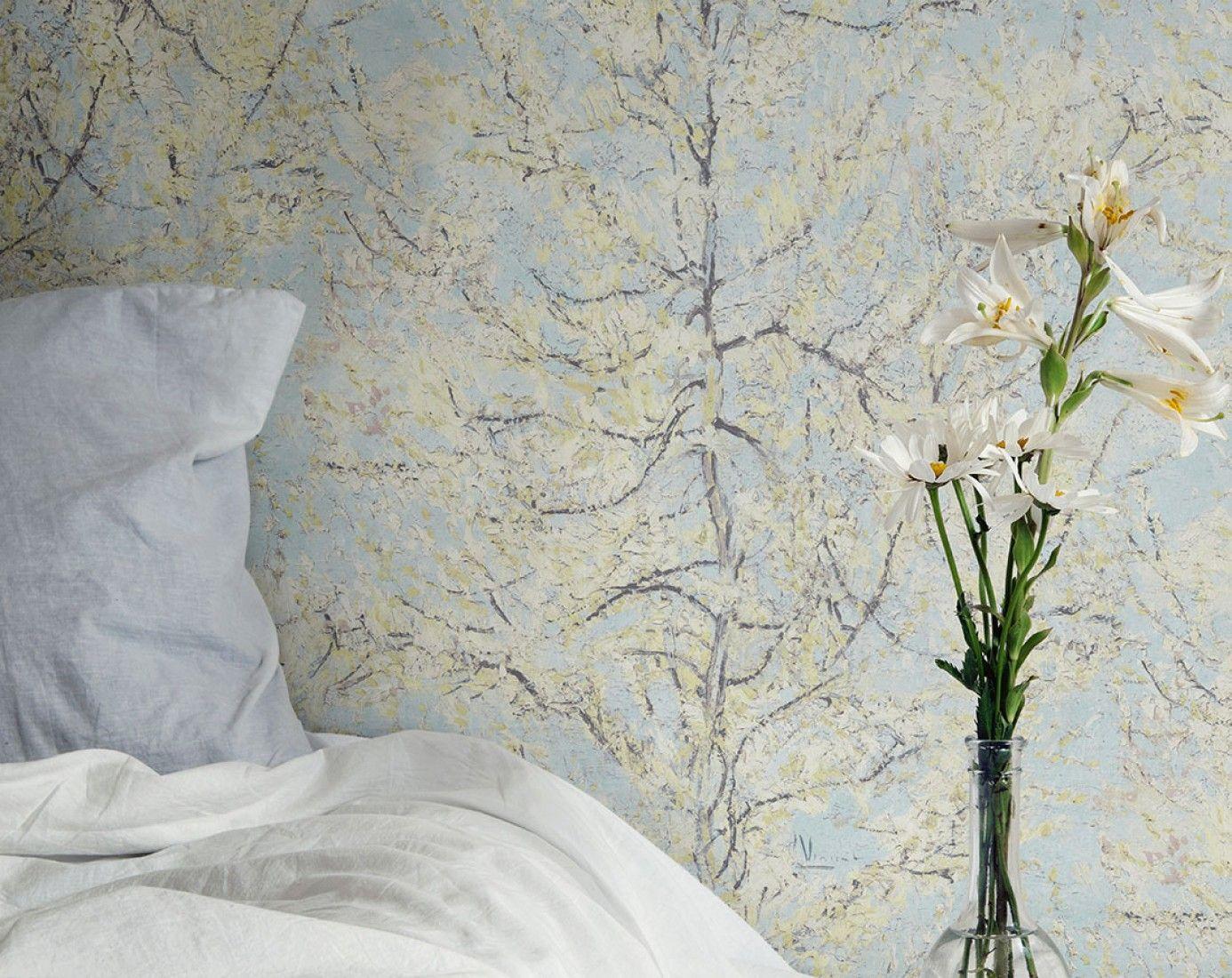 Vangogh Tree Papel De Parede Romantico Papel De Parede Tnt E  -> Papel De Parede Para Sala Folhas