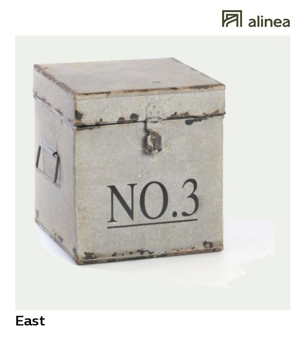 Alinea East Boite En Metal Et Tole Inscription Chiffre 19x19xh20cm Rangement Et Etageres Boite De Rangement Panier Rangement Boites De Rangement Decoratives