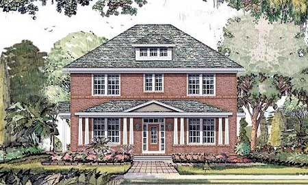 Can I please just build a traditional home?! I love the floor plan!