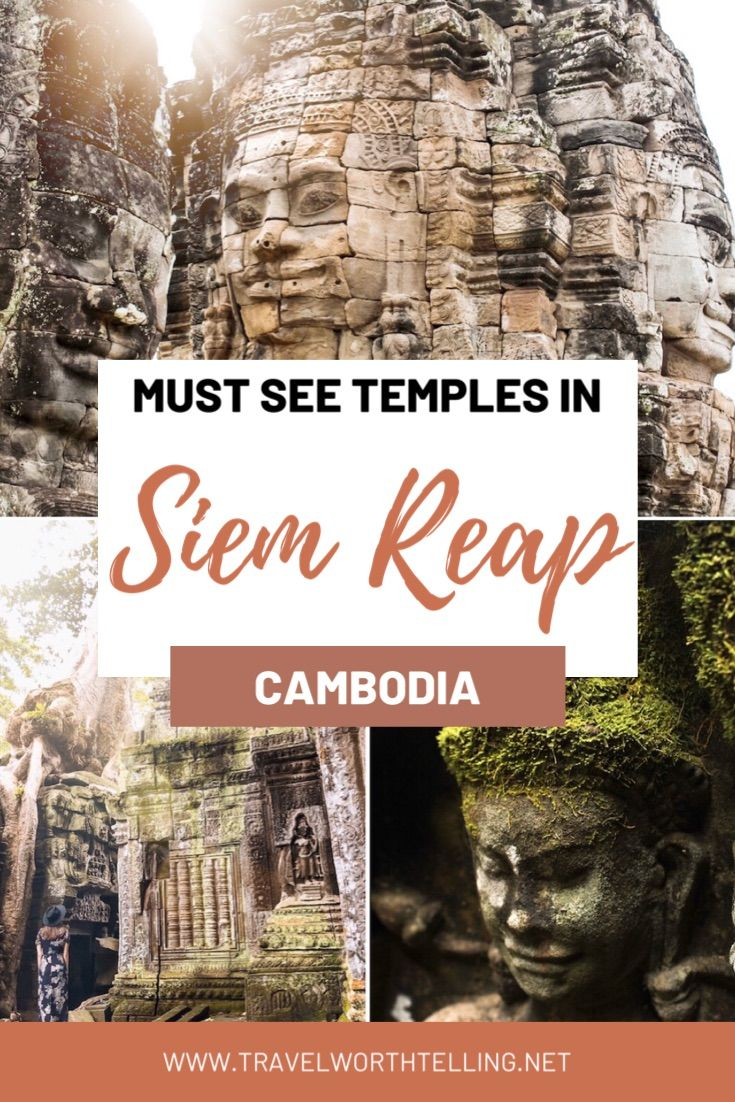 Planning a visit to Angkor Archaeological Park in Cambodia? You won't want to miss these top temples in Siem Reap. Get travel tips for visiting Angkor Wat, discover the best temples, and where to eat and stay in Siem Reap. Visit Ta Som, Bayon, Ta Prohm, and more. #travelguide #cambodia #angkorwat #siemreap #temples
