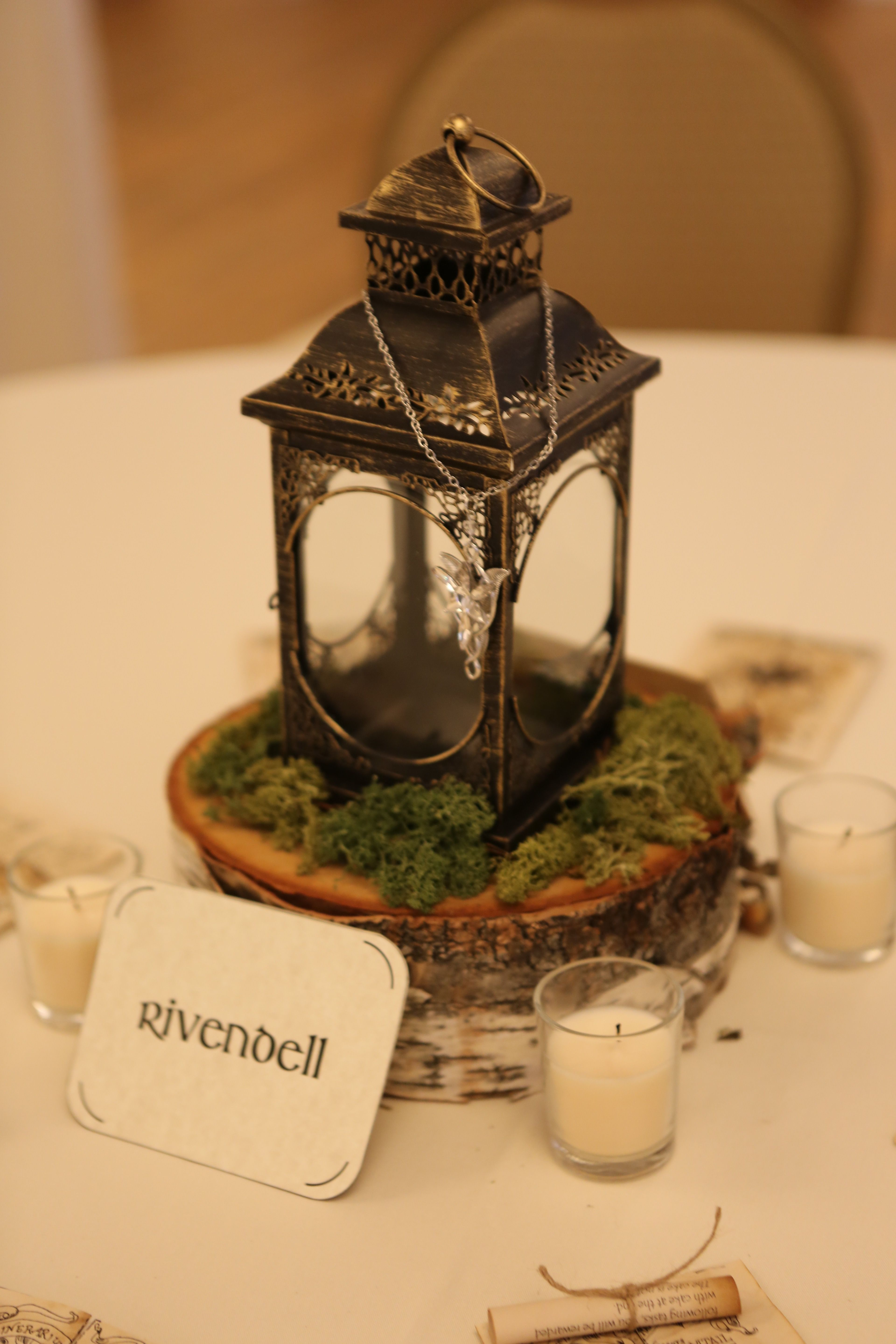 Rivendell Lord of the Rings table centerpiece