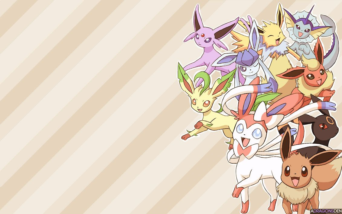 Eeveelution Wallpaper By Lvstarlitsky On Deviantart Eevee Wallpaper Eevee Pokemon Eevee