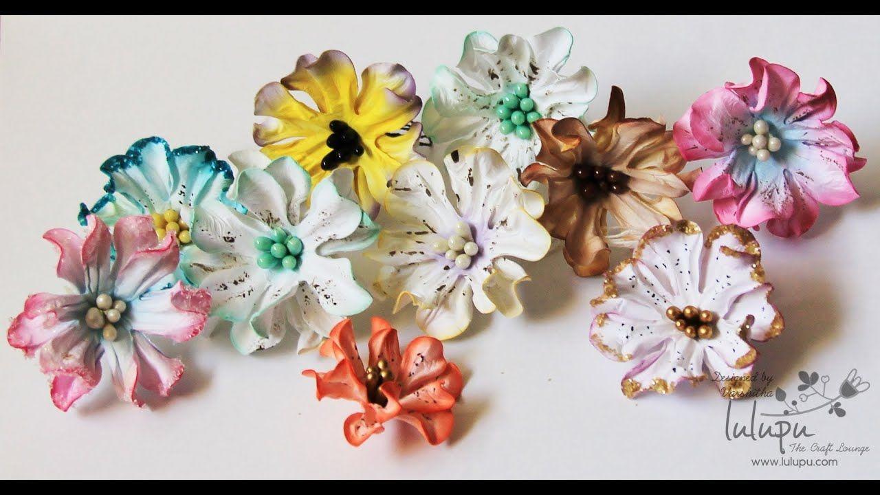 How To Tutorial On Handmade Paper Gardenia Flowers Handmade